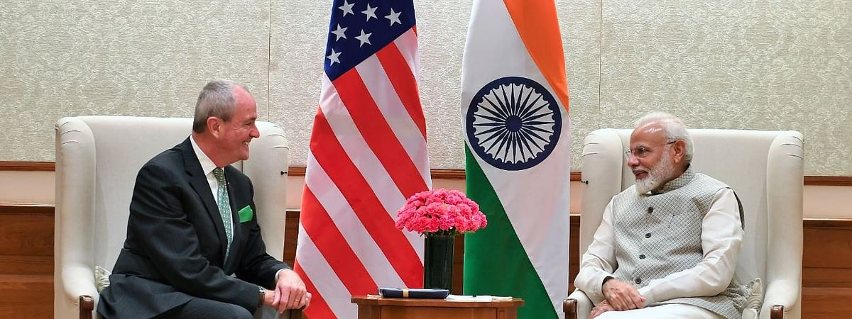 New Jersey Governor Phillip D Murphy calls on Modi