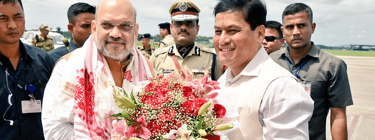 Amit Shah in Guwahati for NEC, NEDA meets
