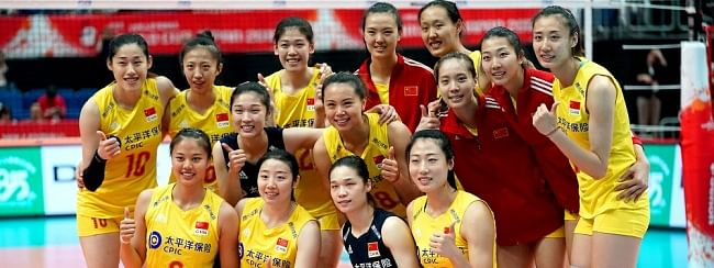 China past Cameroon 3-0 at women's volley