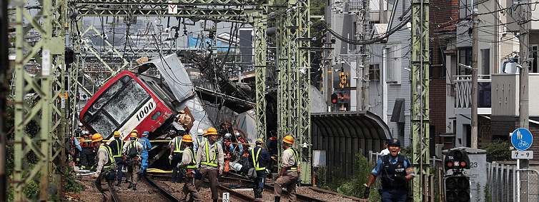 Dozens injured as train collides with truck in Japan's Yokohama