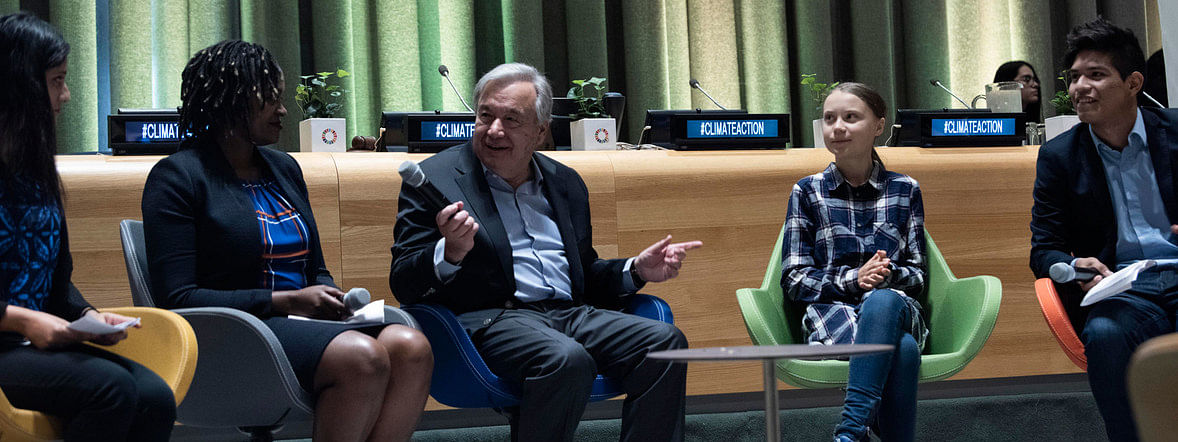 At UN, youth activists press for bold action on climate emergency