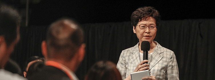 Carrie Lam faces criticism from protesters