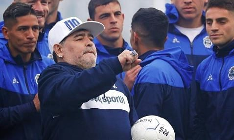 Maradona loses third straight match as Gimnasia boss