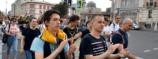 Russian opposition holds protest march