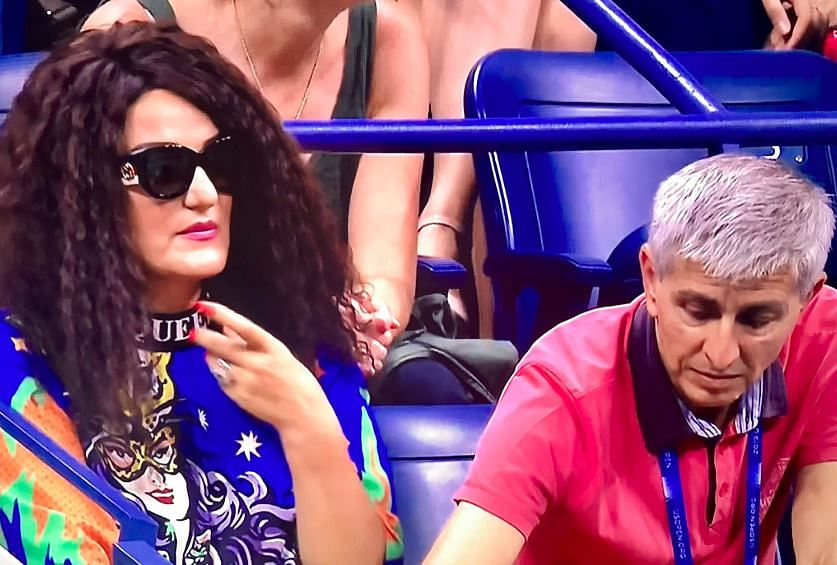 Bianca Andreescu's mother Maria Andreescu watching the US Open