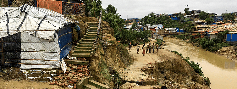 Monsoon rains and landslides cause worst impact on Rohingya refugees