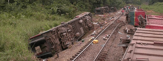 At least 50 killed in DRC train derailment