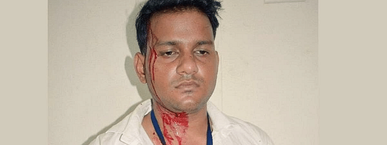 DUSU elections: ABVP goons attack NSUI vice-prez candidate Ankit Bharti