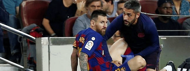 Barca confirm abductor injury for Messi