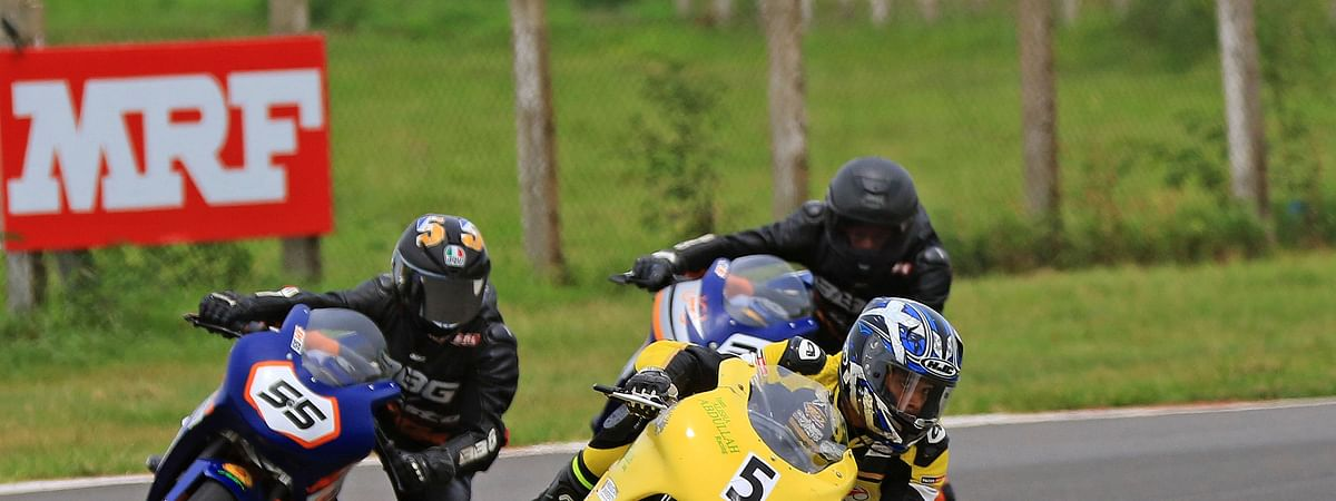 Ahamed leads 1-2-3 finish for TVS Racing