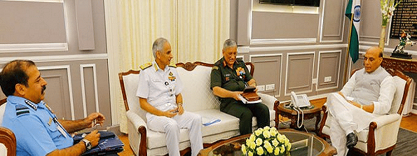 Services chiefs meet Defence Minister