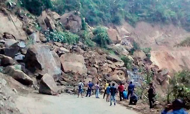 Landslide in Nagaland continue to block NH 29