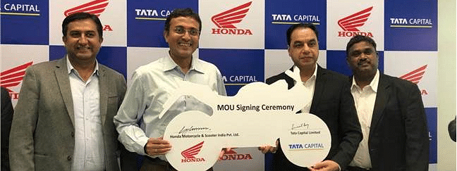 HMSI signs retail finance MoU with Tata Capital Financial Services Limited