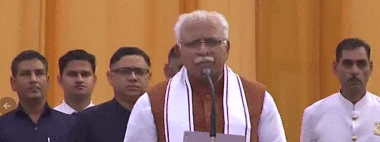 Manohar Lal Khattar takes oath As Haryana Chief Minister