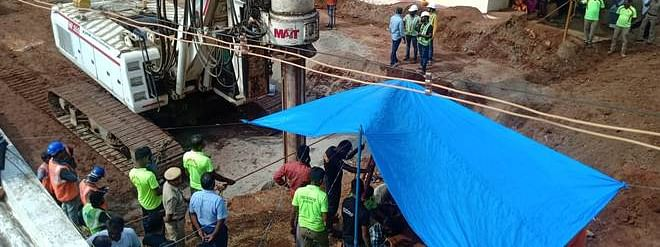 Bore well tragedy: Sandbags stacked around borewell following rain