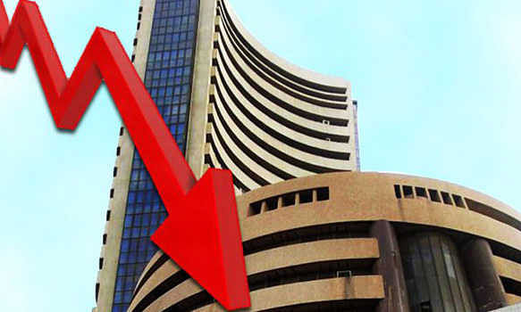 Sensex slips by 288.34 pts