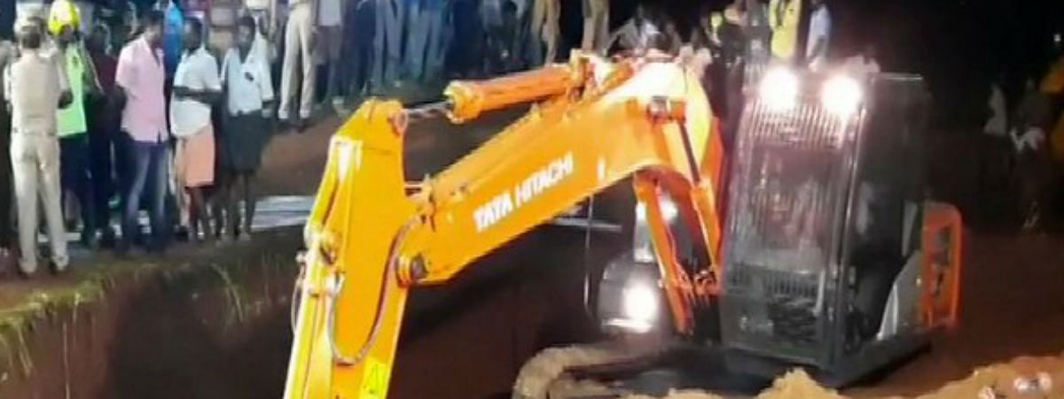 Toddler stuck in borewell: Surjeet slips further 100-ft down in borewell