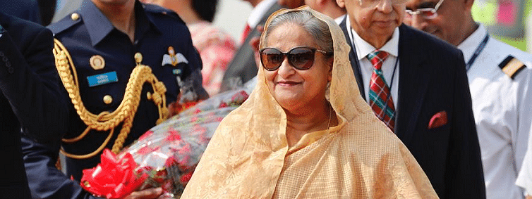 Sheikh Hasina arrives here on four-day visit