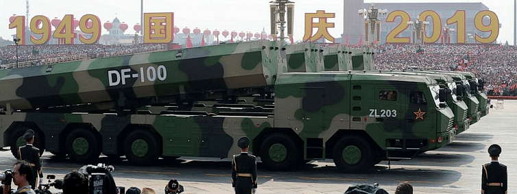 Missiles, parade mark Chinese 70th anniversary