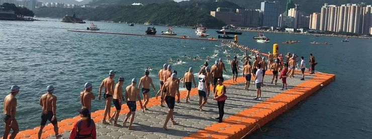 Unrest-hit Hong Kong cancels harbor swimming race