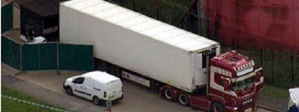 Thirty-nine bodies found in truck container in London: Police
