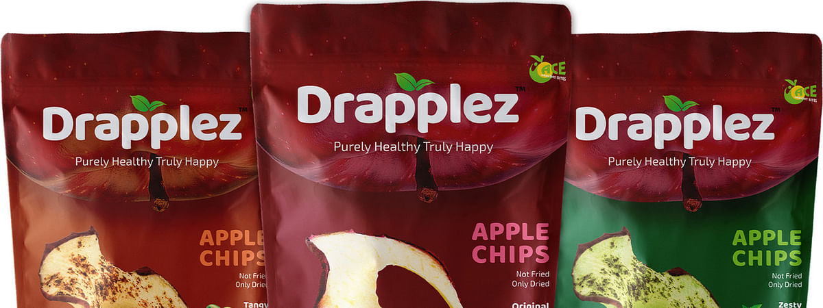 Drapplez, a new snack brand of healthy food from apple bowl of India