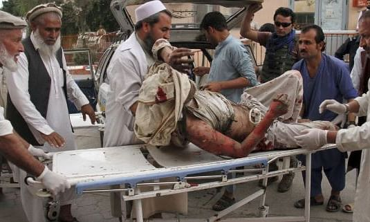 Twin blasts in Afghanistan's mosque kill 62