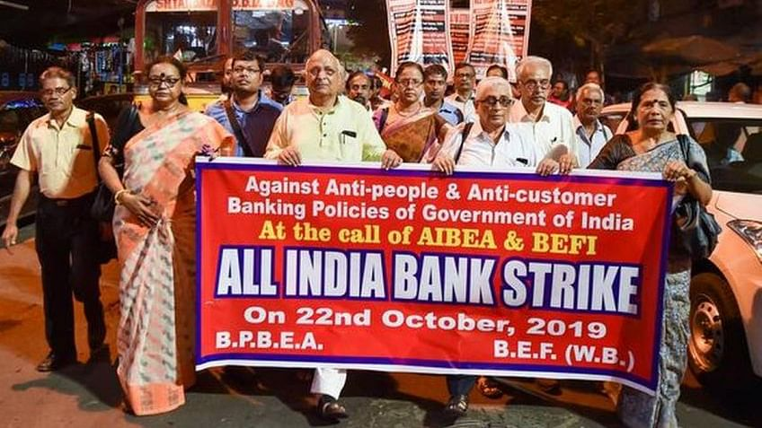 Bank strike hits work in MP