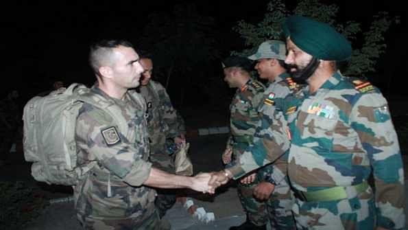 French Army Contingent arrives for Exercise Shakti in Bikaner