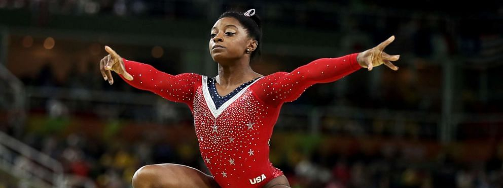 American gymnast Biles wins; China's teenager Tang takes silver