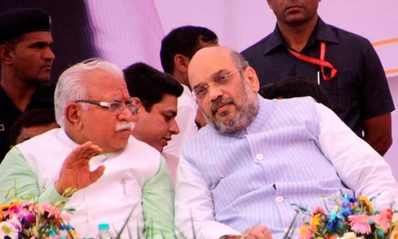 Haryana: Amit Shah to visit BJP office at 2 pm; Khattar to rush to Delhi