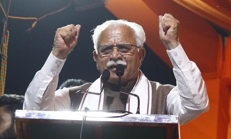 Khattar thanks people for BJP's victory in most of constituencies