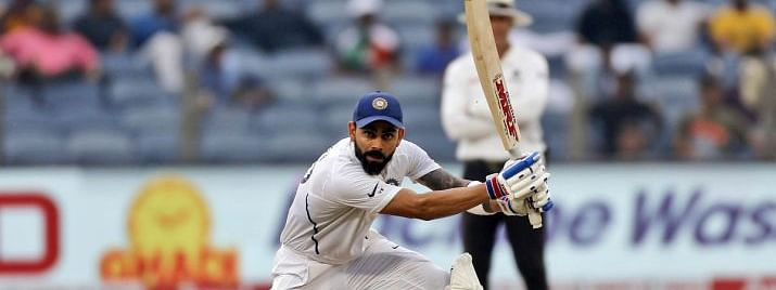 Virat Kohli, the second-fastest Indian to complete 26 Test centuries