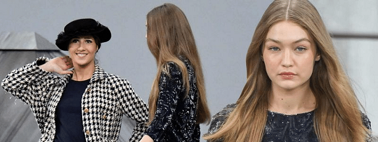 Supermodel Gigi Hadid had surprise face off with a catwalk-crasher