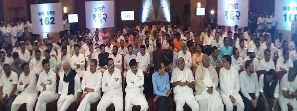 Nearly 162 MLAs, top party leaders meet in Mumbai hotel to show strength