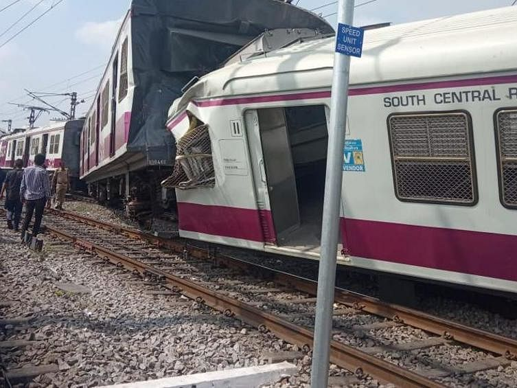 MMTS collides with inter-city exp ; 12 passengers injured