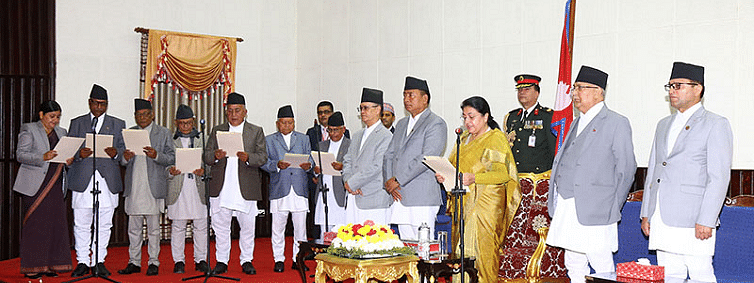 Nepal President administers oath of office to newly-appointed Governors