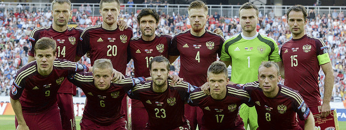 Russian men's team at 38th place in FIFA world ranking