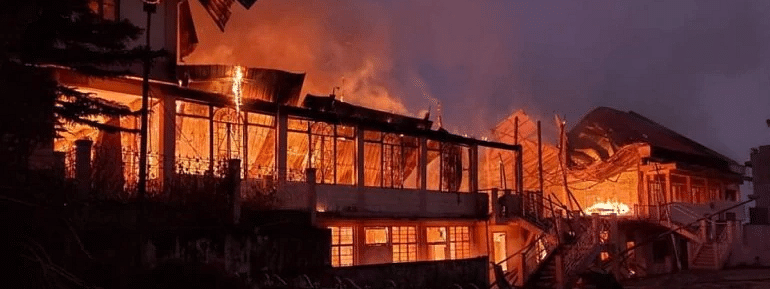 Two killed as Church reduced to ashes in Meghalaya