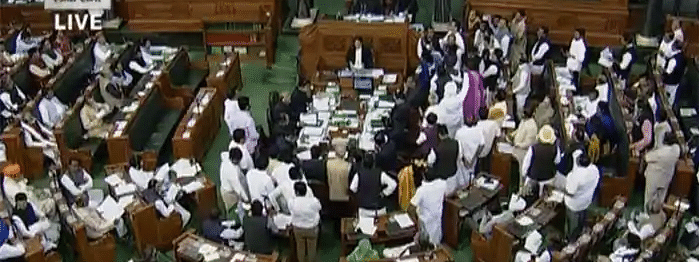 Lok Sabha adjourned over Mah developments