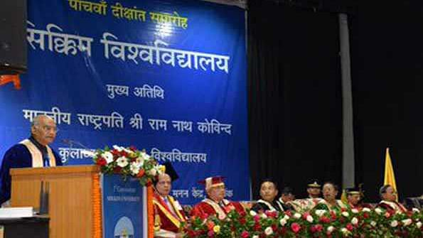 President awards Gold Medals at 5th Convocation of Sikkim University