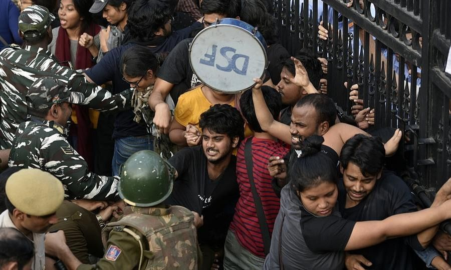 Lok Sabha: AITC, BSP condemn lathi charge on JNU students