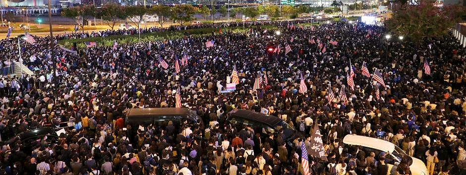 Hong Kong protests: China warns US over Human Rights