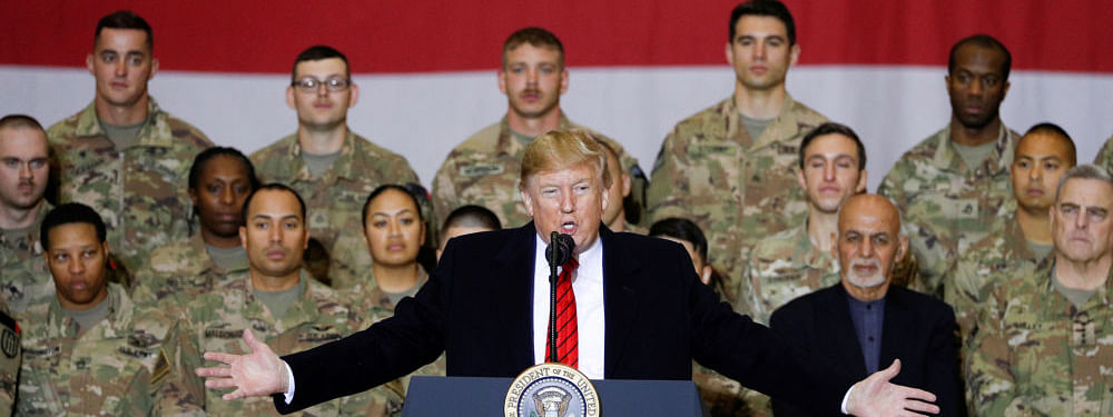 Trump makes surprise visit to Afghanistan, meets Afghan President