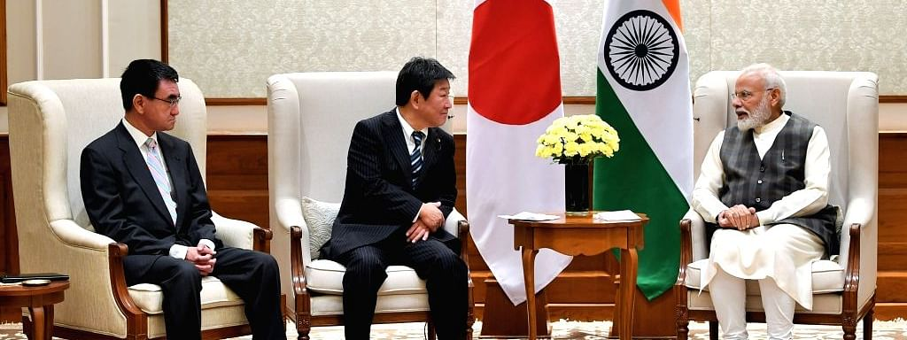 Japanese Foreign and Defence Ministers call on PM Modi