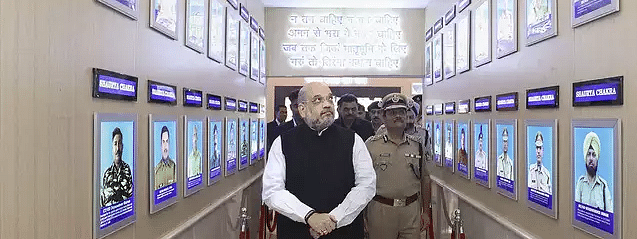 Shah visits CRPF HQ, pays tribute to Sardar Post's martyrs