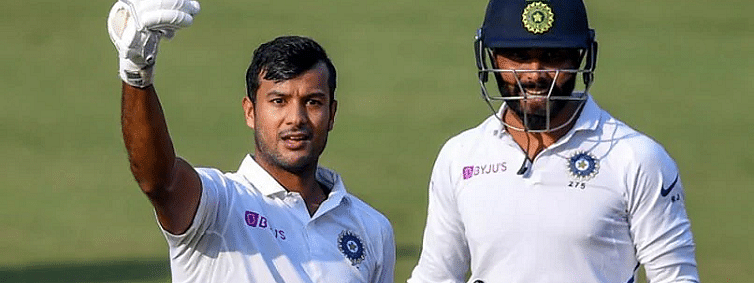Mayank's double ton puts India on top