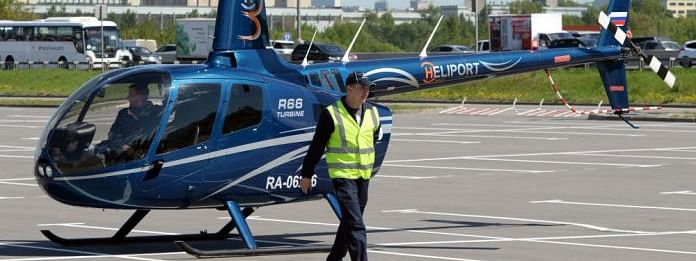 Private helicopter crashes in Southern Russia, pilot dead