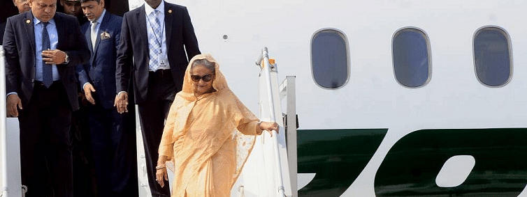 Hasina arrives in Kolkata to inaugurate maiden historic D/N Test at Eden