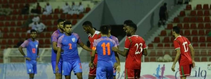 India lose to Oman 1-0 In Muscat